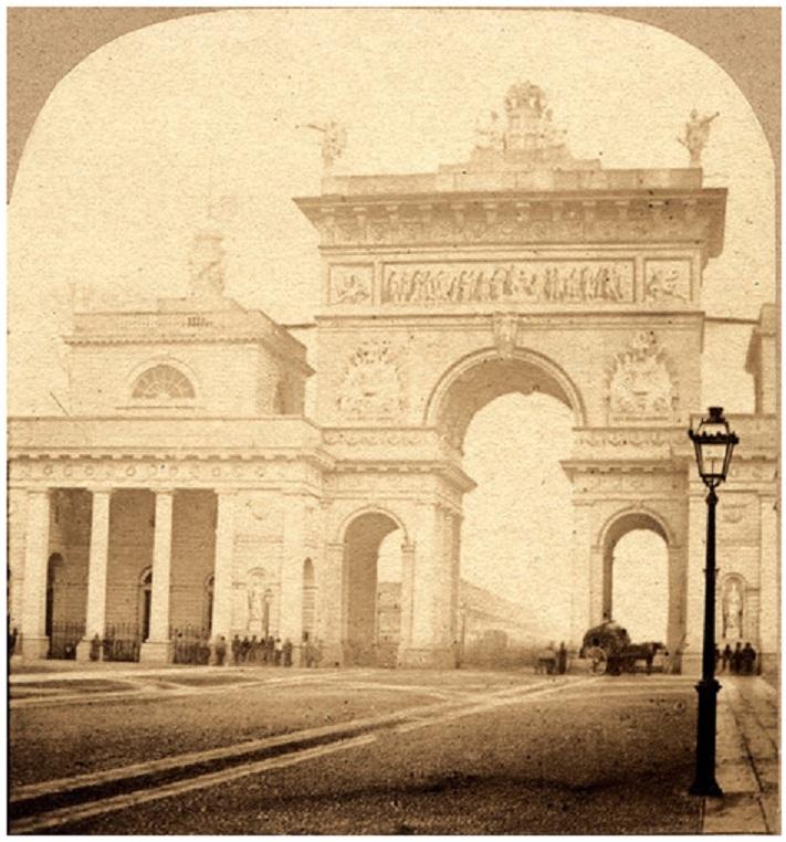 Łuk triumfalny wzniosiony w 1857 z okazji wizyty w Mediolanie cesarza Austrii Franciszka Józefa i jego małżonki Elżbiety