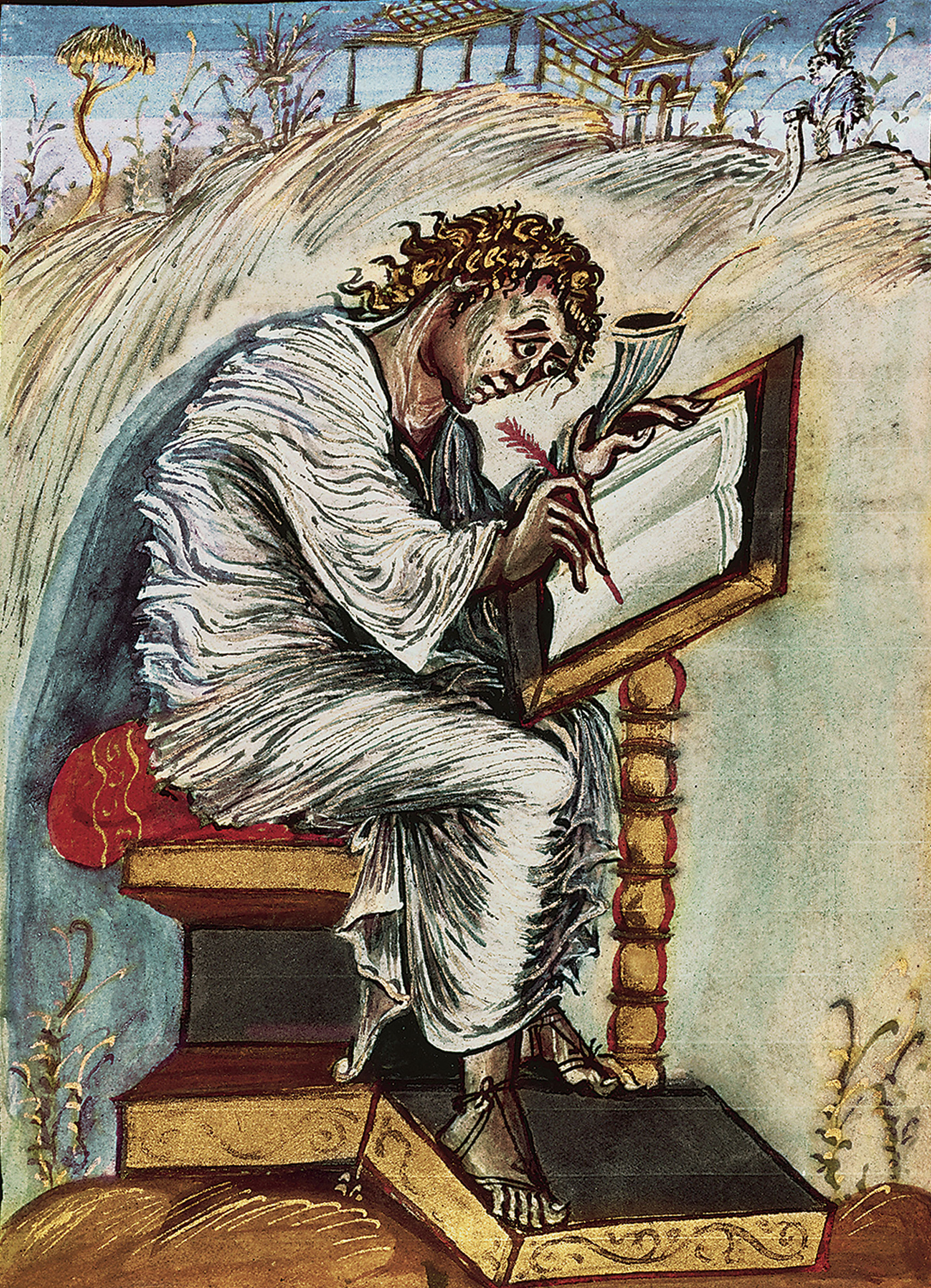 Saint Matthew, from the 9th-century Ebbo Gospels.