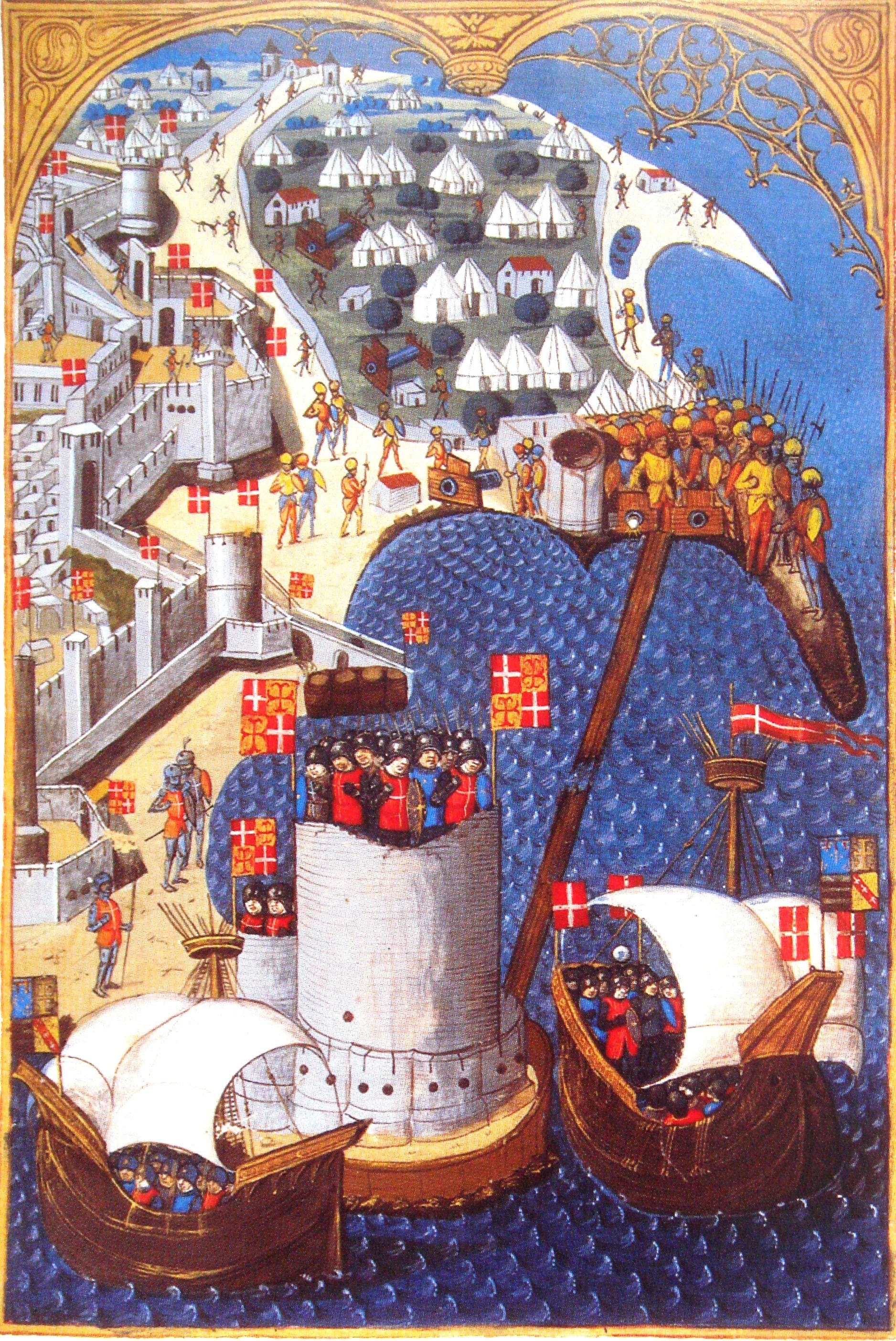 Siege of Rhodes in 1480.