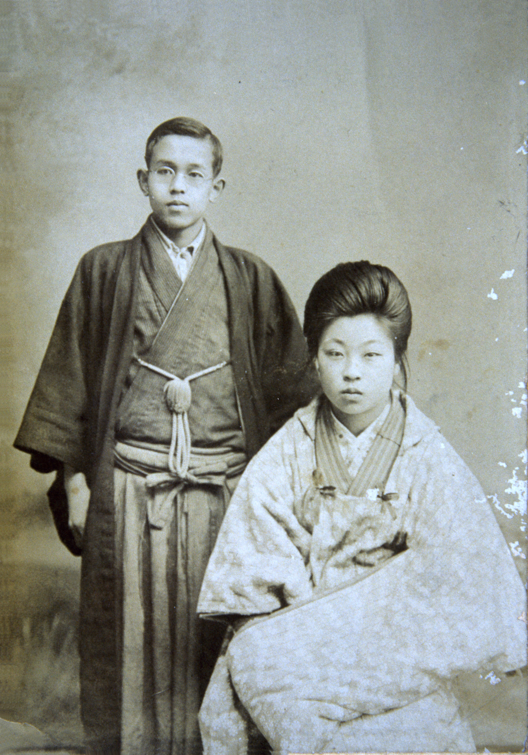 Takuboku Ishikawa and wife, Setsuko