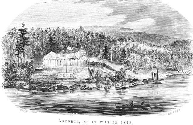 Fort Astoria in 1813