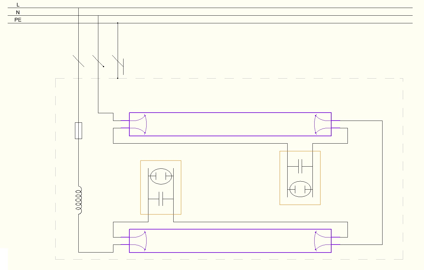 5 Wire Ballast 4 Lamps Schematic Lamp T5 Wiring Diagram