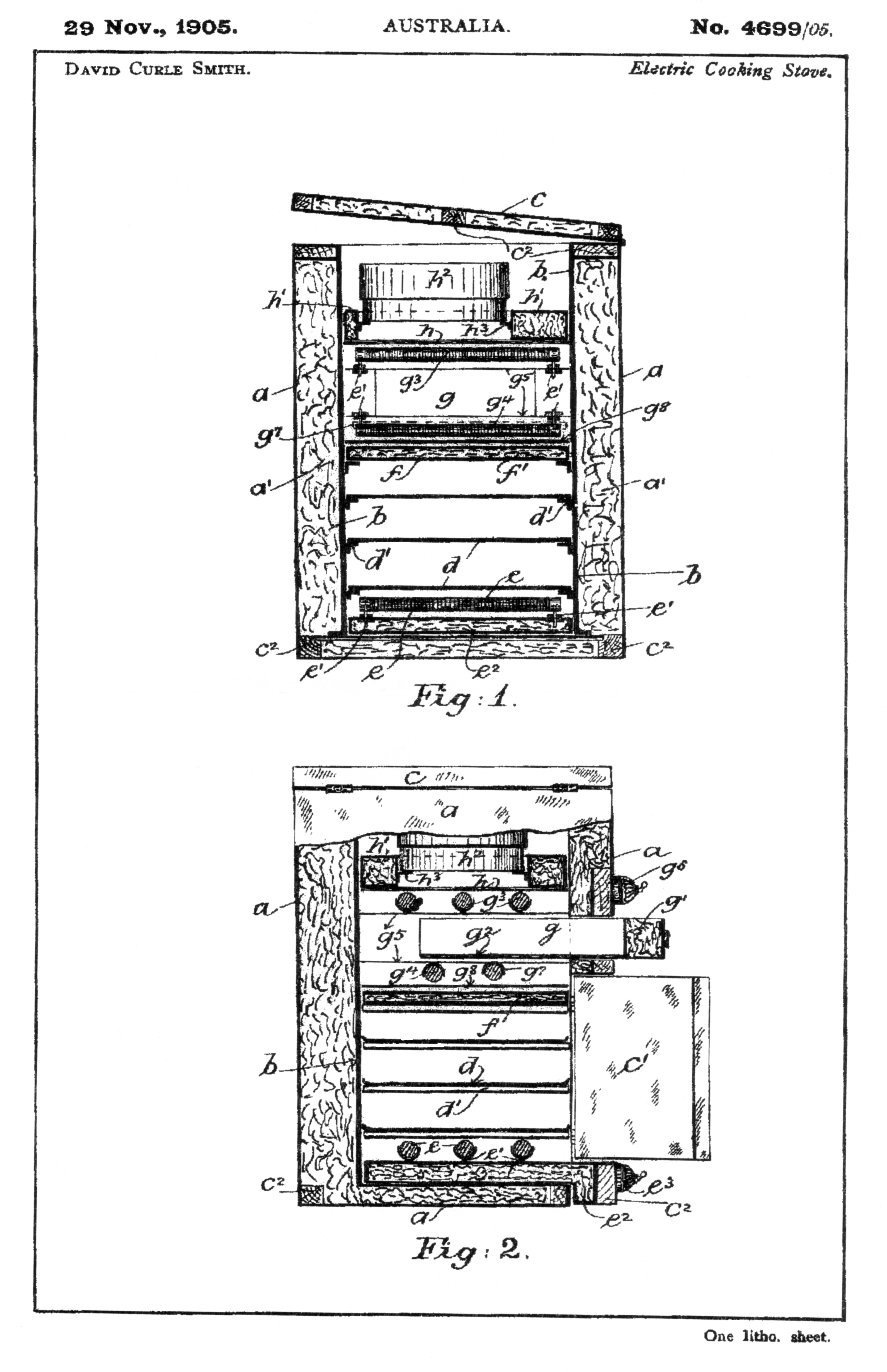 File Kalgooorlie Stove Patent Drawing