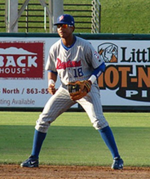 Chicago Cubs shortstop prospect Starlin Castro.