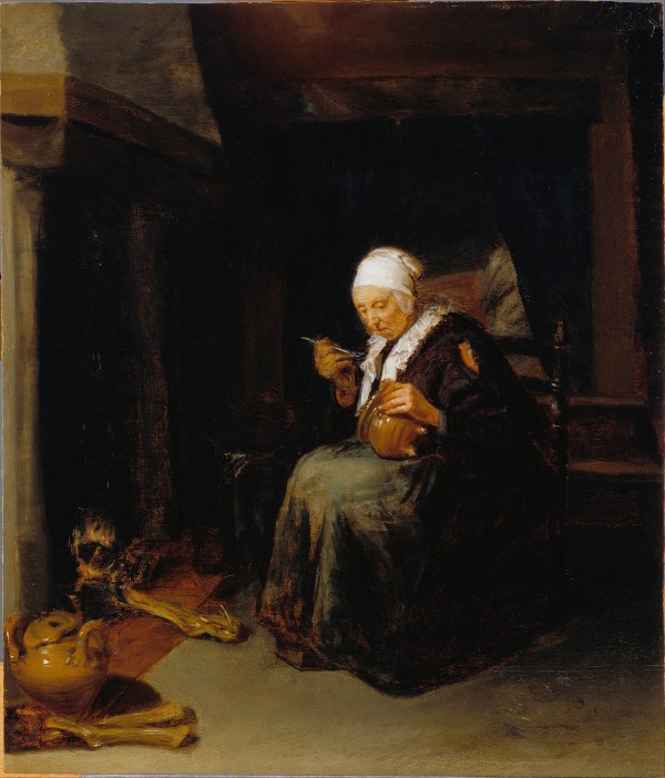 Old Woman Painting