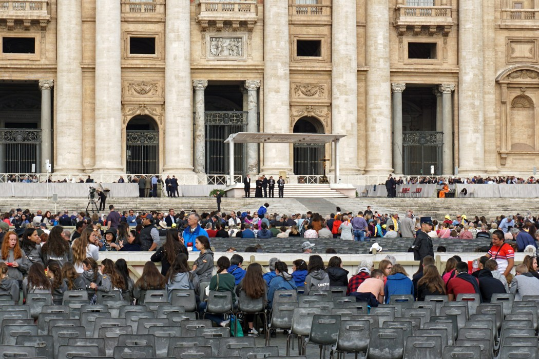 The Papal audience held in St. Peter's Square photo via Wikicommons