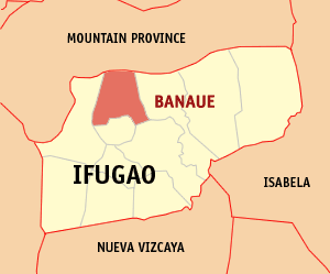 English: Map of Ifugao showing the location of...