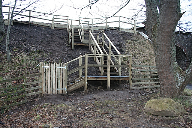 Steps to nowhere^ - geograph.org.uk - 666960