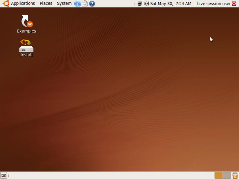 Desktop di Ubuntu Jaunty