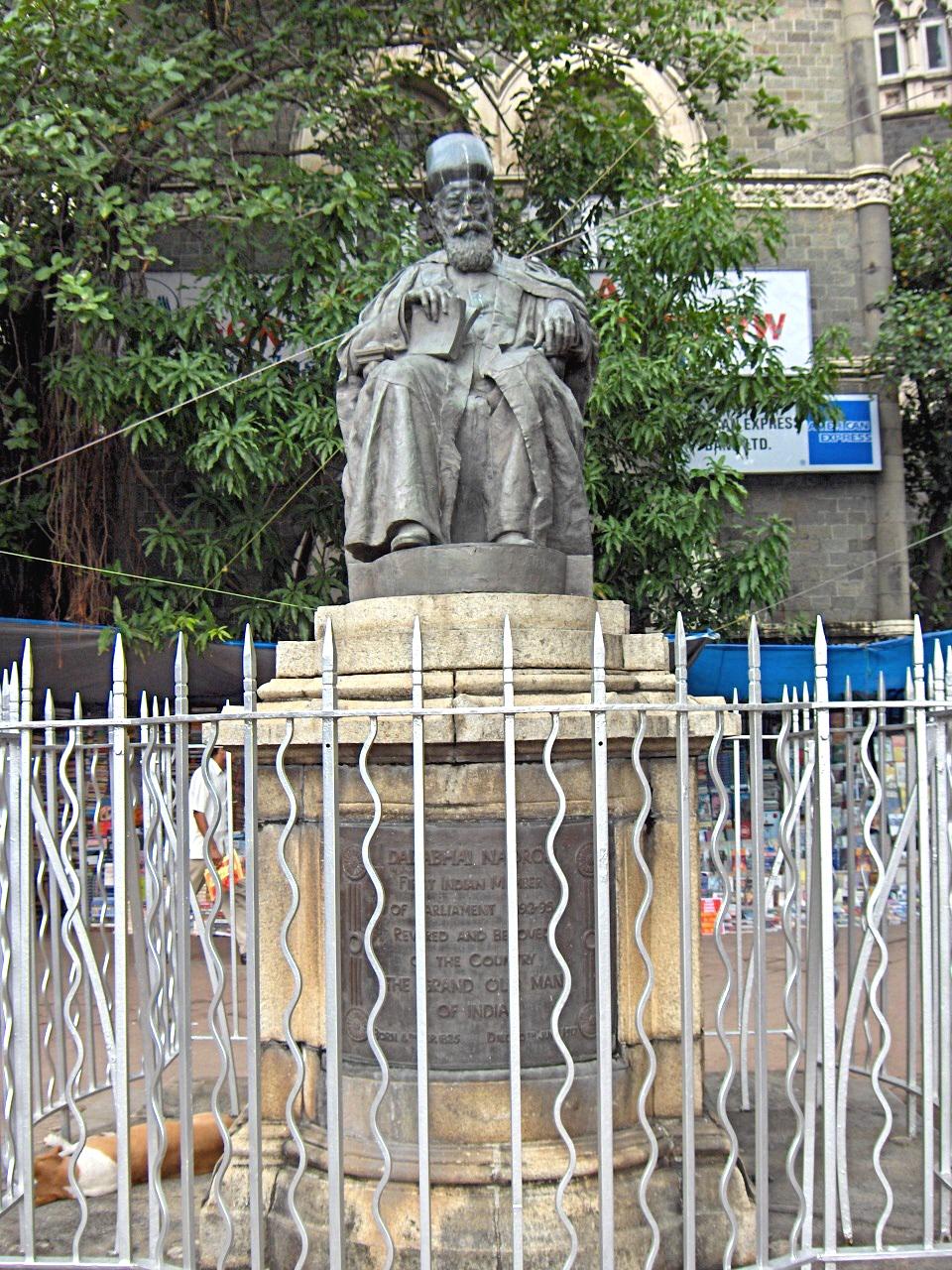 Dadabhai Naoroji statue in Mumbai, India