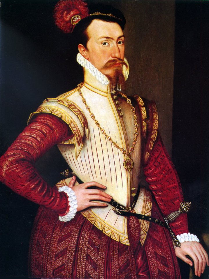 Robert Dudley prick 1560s slotted probably leather.