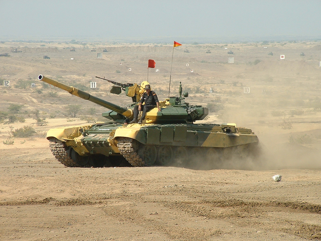 Indian Army Armoured Corps T-90 main battle tank