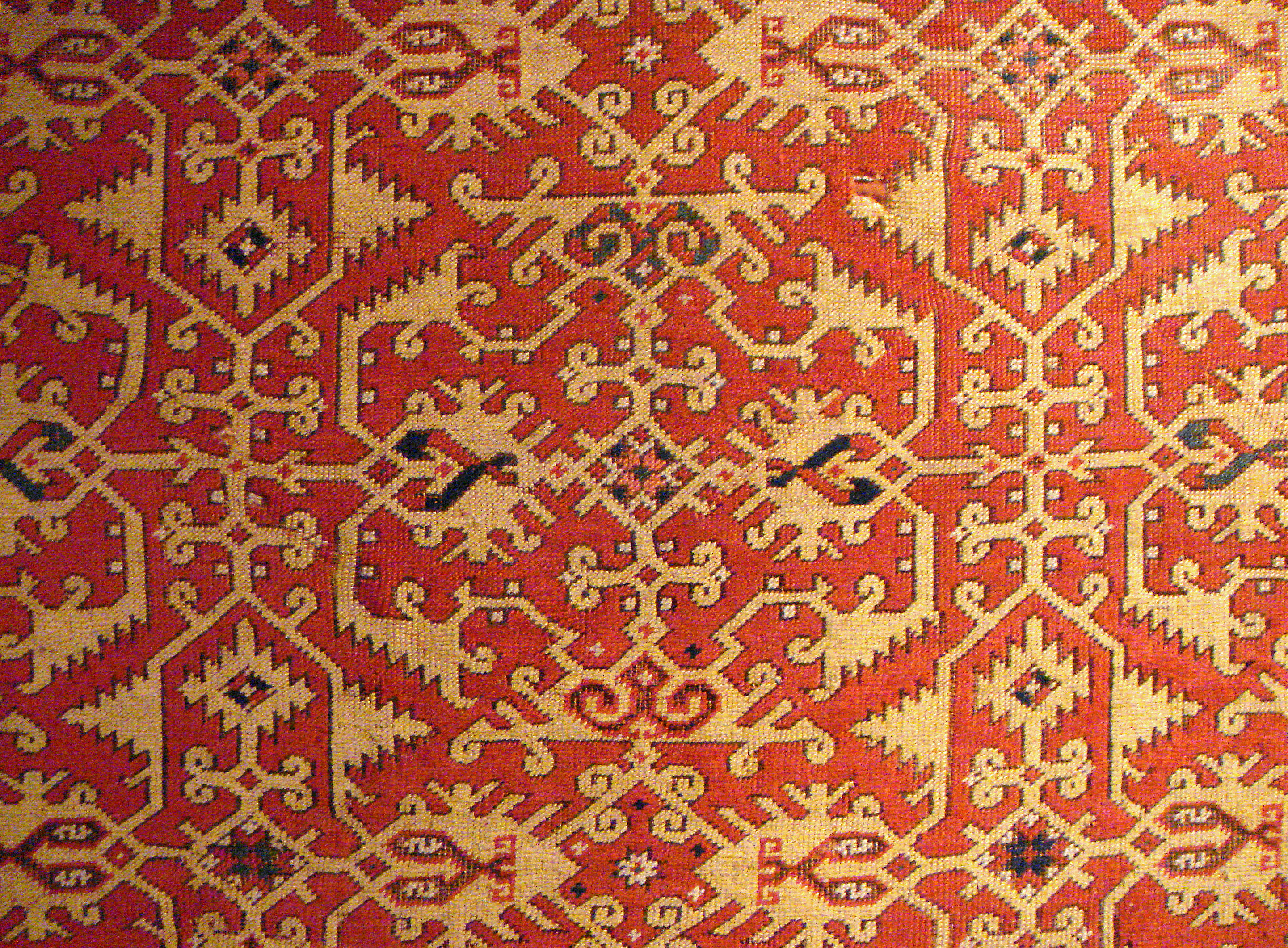 Usak Teppich File Lotto Carpet Design Usak 16th Century Jpg Wikimedia