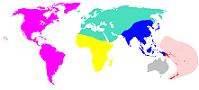 Original locations of the six 2000 US Census r...
