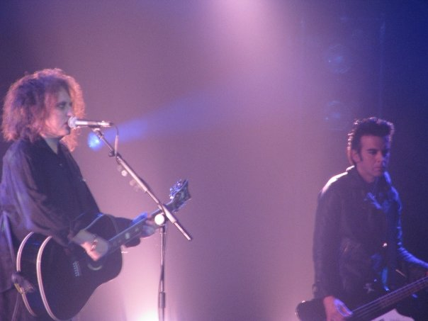 Robert Smith and Simon Gallup of The Cure at R...