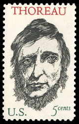 1967 U.S. postage stamp honoring Henry David T...