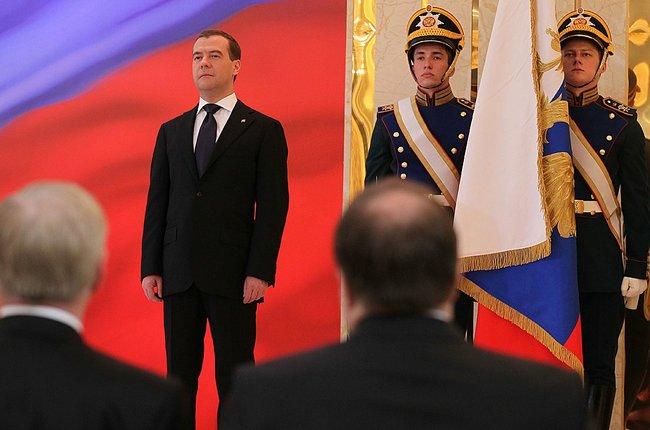 Abbildung 6: Medwedew auf dem Podium