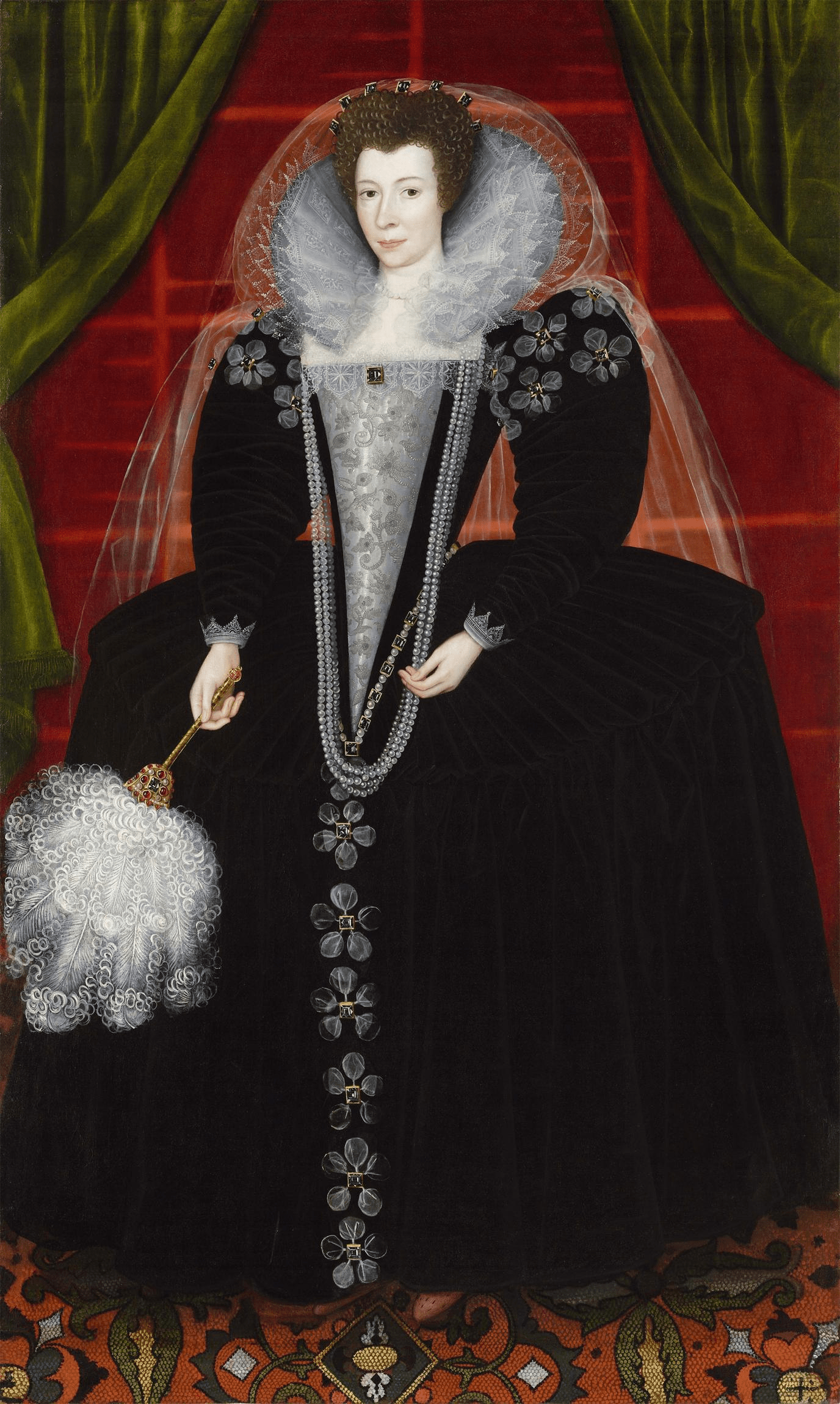 """Portrait of a Lady, probably Elizabeth Southwell née Howard,"" c. 1600. Weiss Gallery, London"