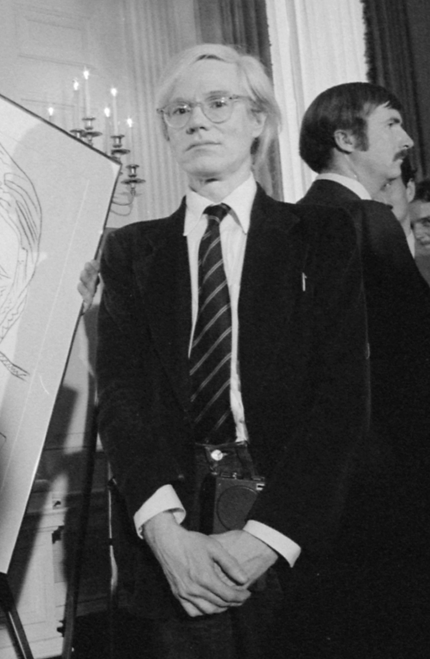 Andy Warhol during a reception for inaugural p...
