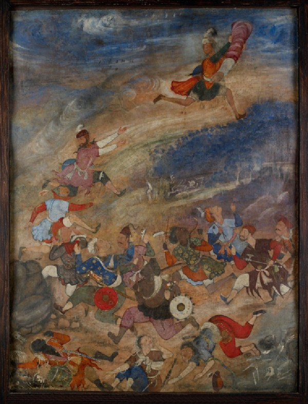 Indian Miniature Paintings Battle Scenes