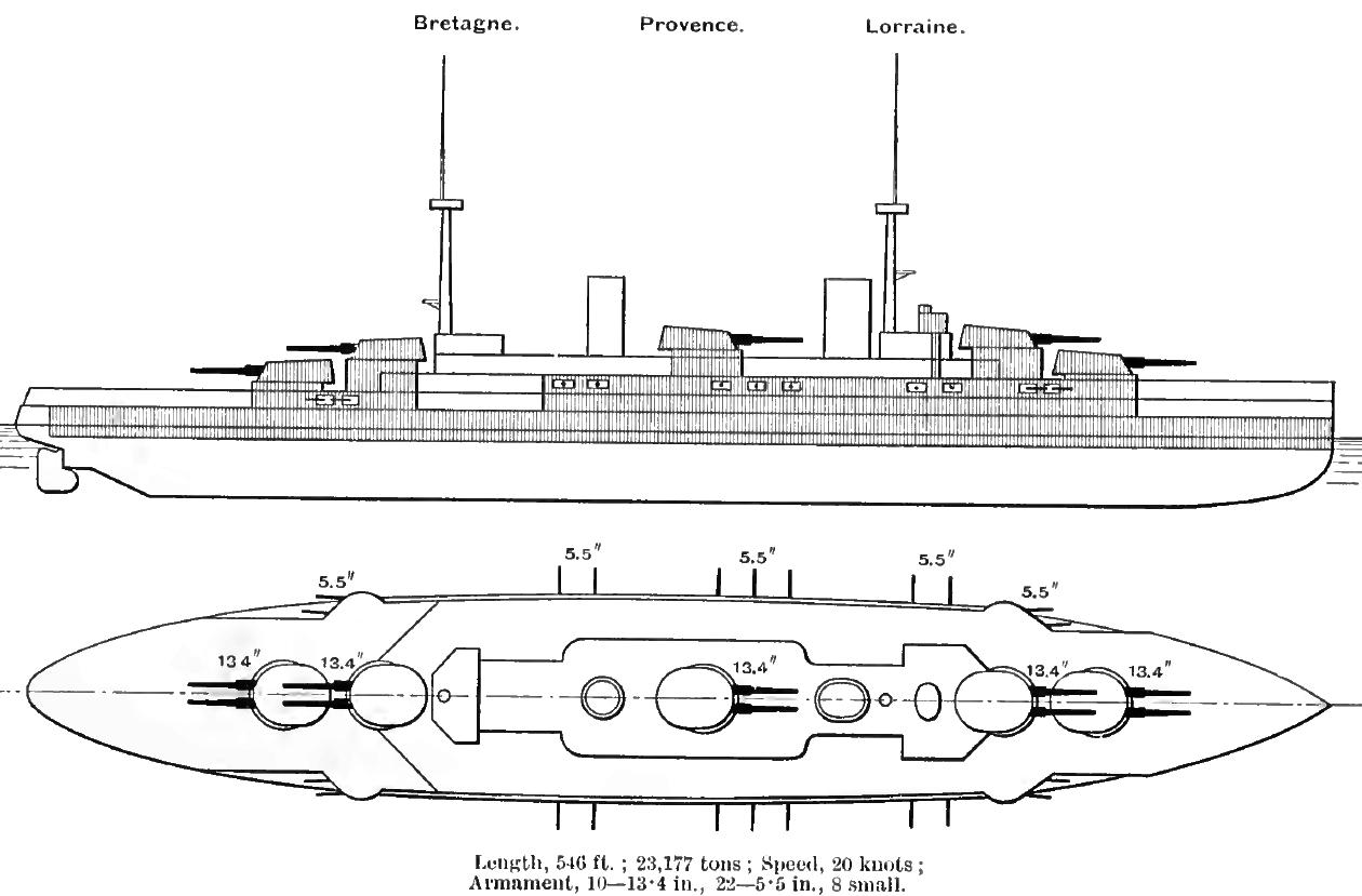 French Battleship Bretagne