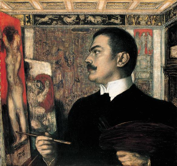 File:Franz von Stuck Selbstbildnis im Atelier.jpg