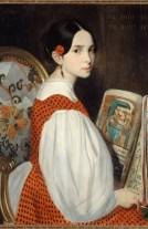 Léopoldine Hugo, peinte par Auguste de Châtillon en 1836, le jour de sa première communion.