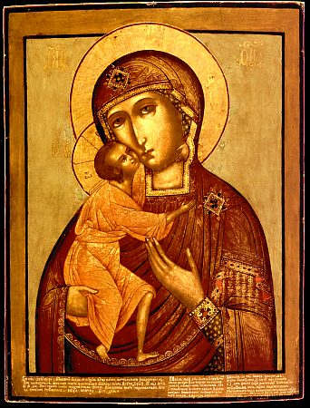Tender mercy type of an icon of St. Mary from 17th century