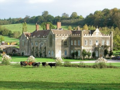 The grounds of Flaxley Abbey