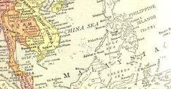 Map of Malaysia, circa 1914