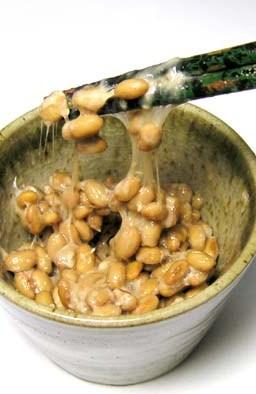Natto mixed