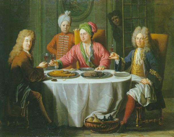 File:Reunion de gentilhommes autour d une table dans un interieur van Schuppen.jpg