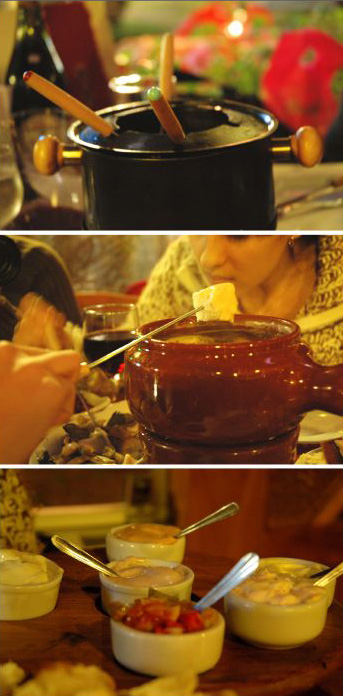 Meat fondue image from Wikipedia