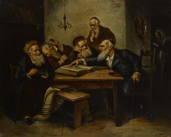 File:Bernard Trebacz Argument of the scholars.jpeg