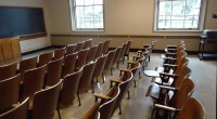 File:Classroom with chairs and blackboard at Cornell ...