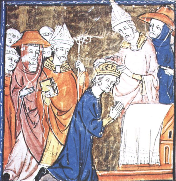 The Cathedral of St. Peter, Pope Leo III puts the imperial crown on the head of Charles.