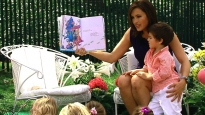 "English: Actress Mariska Hargitay reads ""..."
