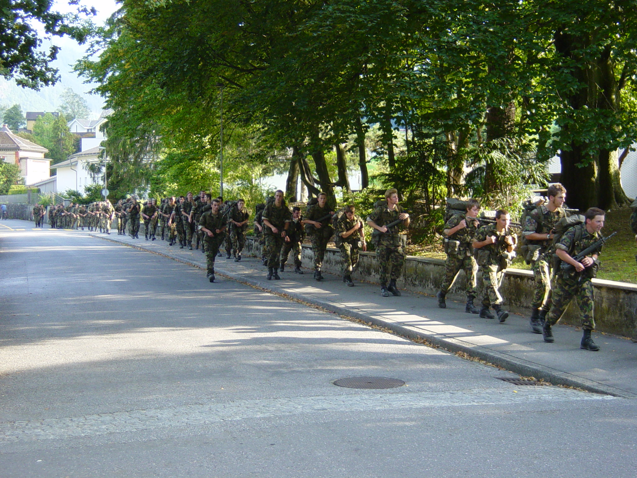 Image of swiss army troops
