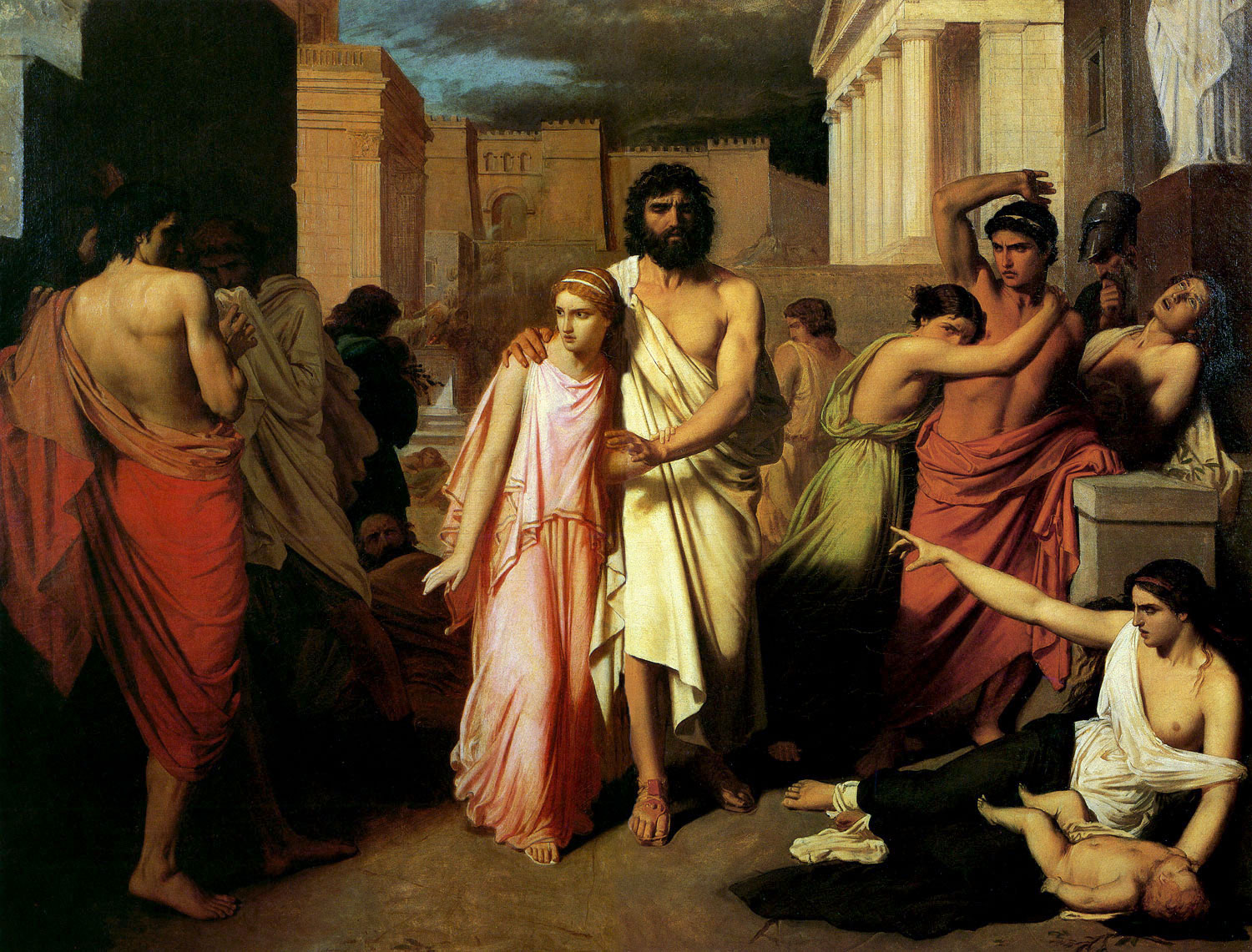 the plague of thebes charles jalabert