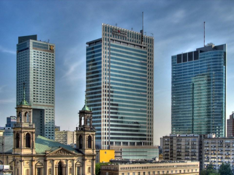 Warsaw Downtown Skyline