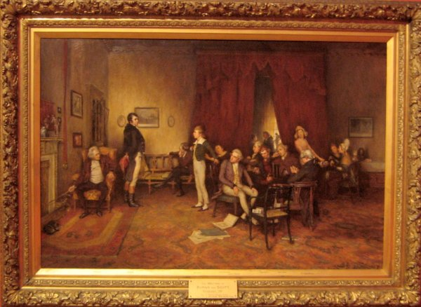 File ' Meeting Of Burns And Scott' Oil Canvas