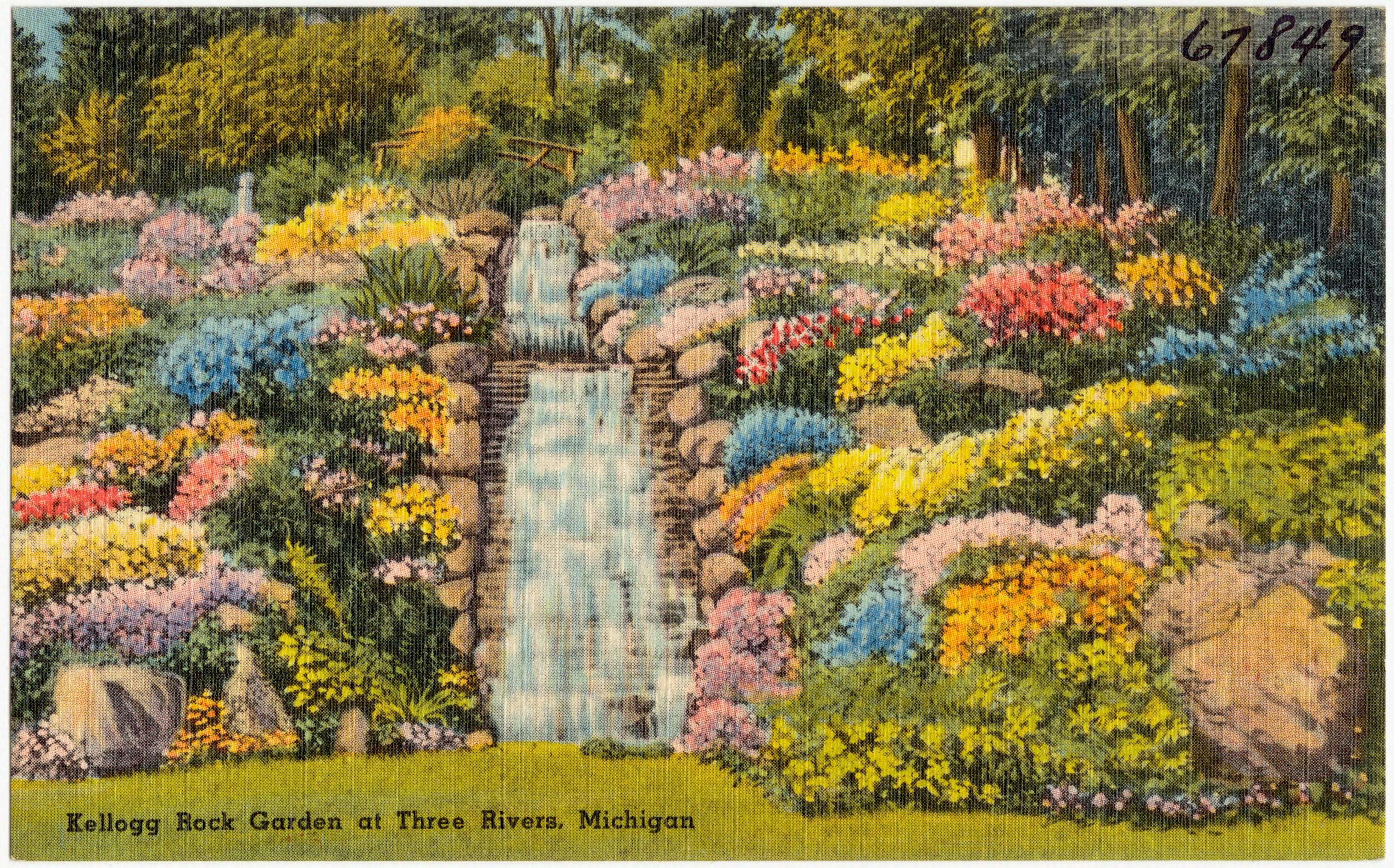 File Kellogg Rock Garden At Three Rivers Michigan