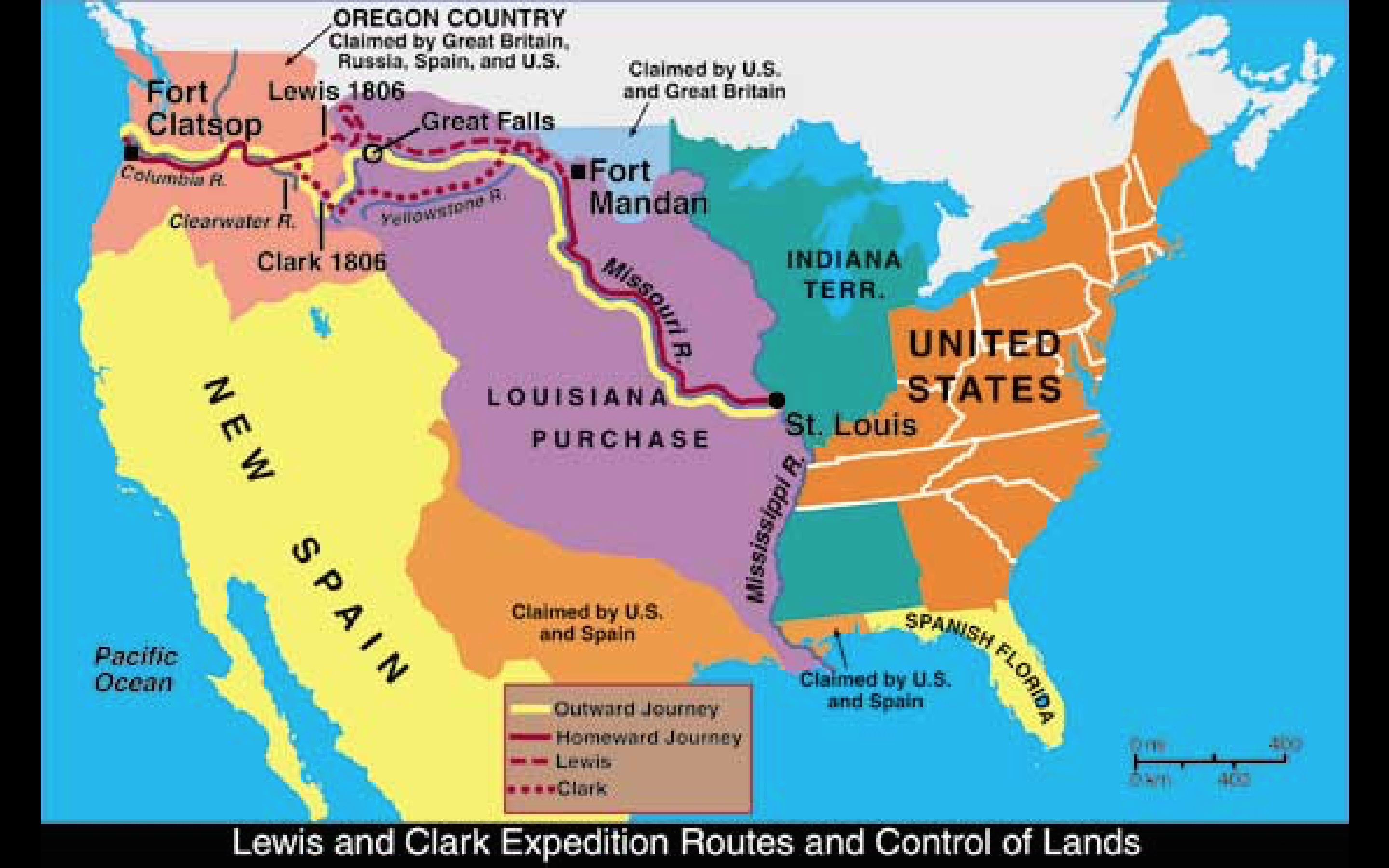 Printable Map Of Westward Expansion Us