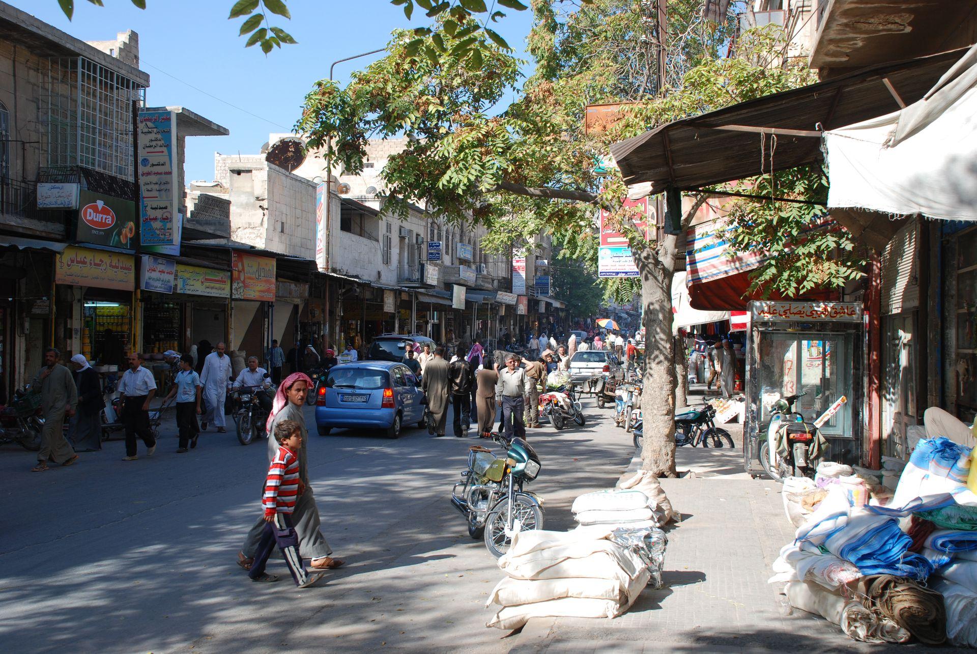 English: Maarat an-Numan, Syria, main street D...