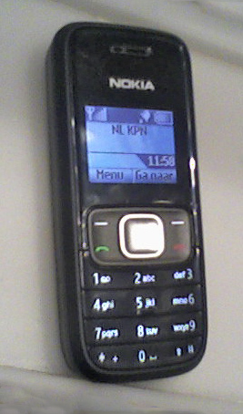 English: Nokia 1209 Italiano: Un telefono cell...