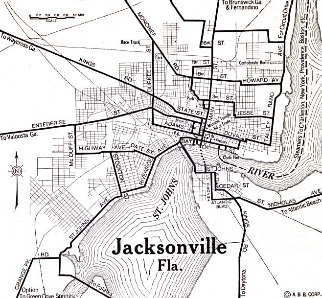 File:1920 map Jacksonville, Florida Automobile Blue Book