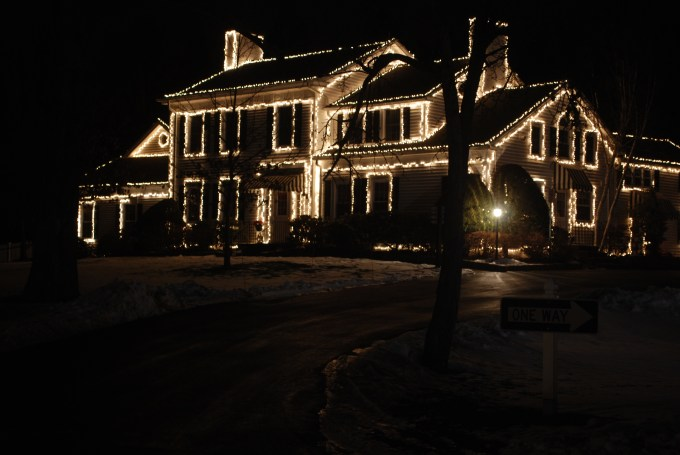 christmas light up house ideas