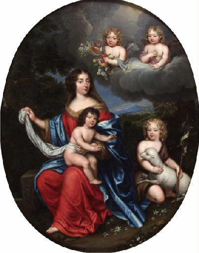 File:Madame de Maintenon avec Vexin et Maine, Mignard.jpg