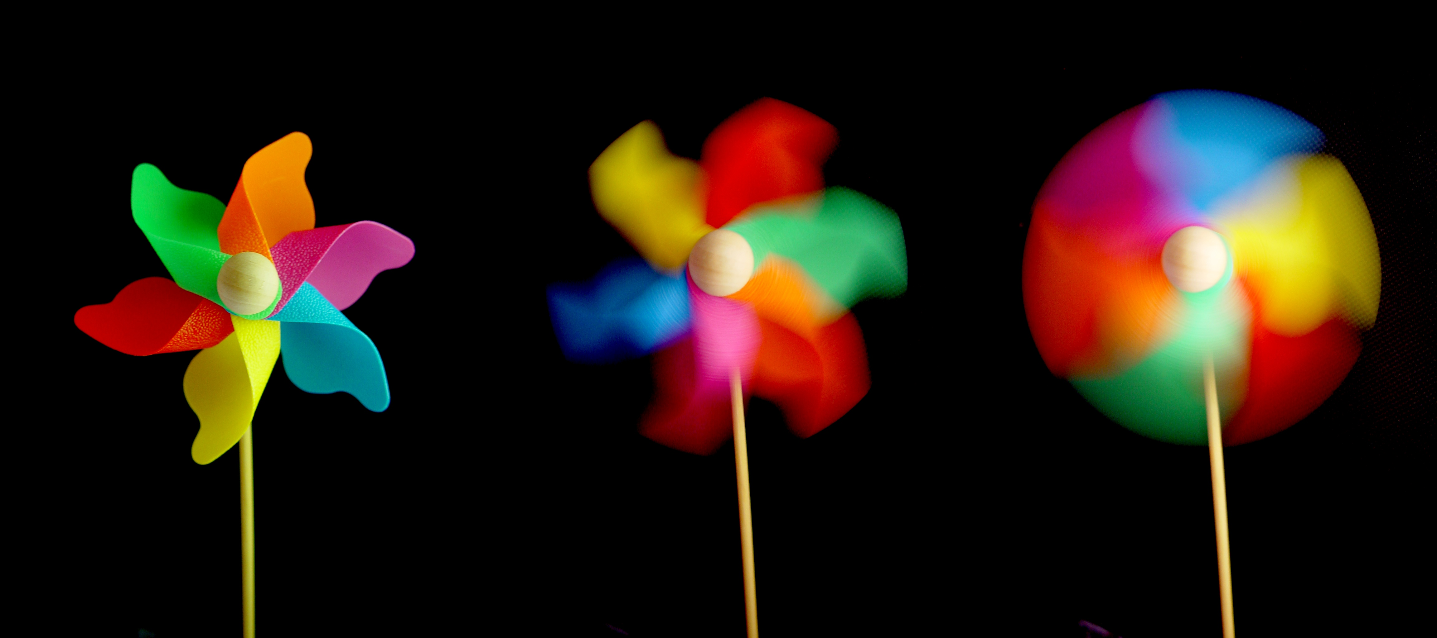 English: Effect of different shutter speeds on...