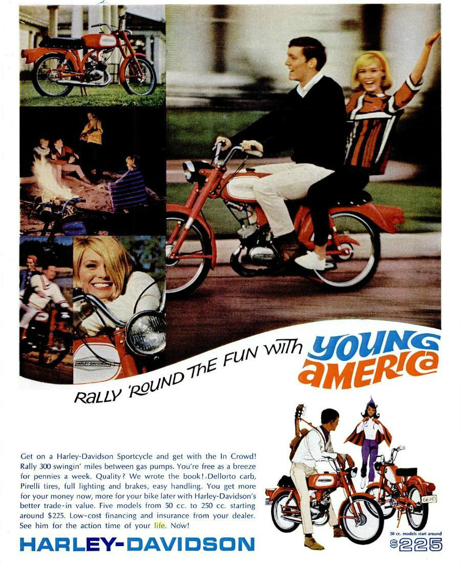 medium resolution of an example of the harley davidson young america campaign